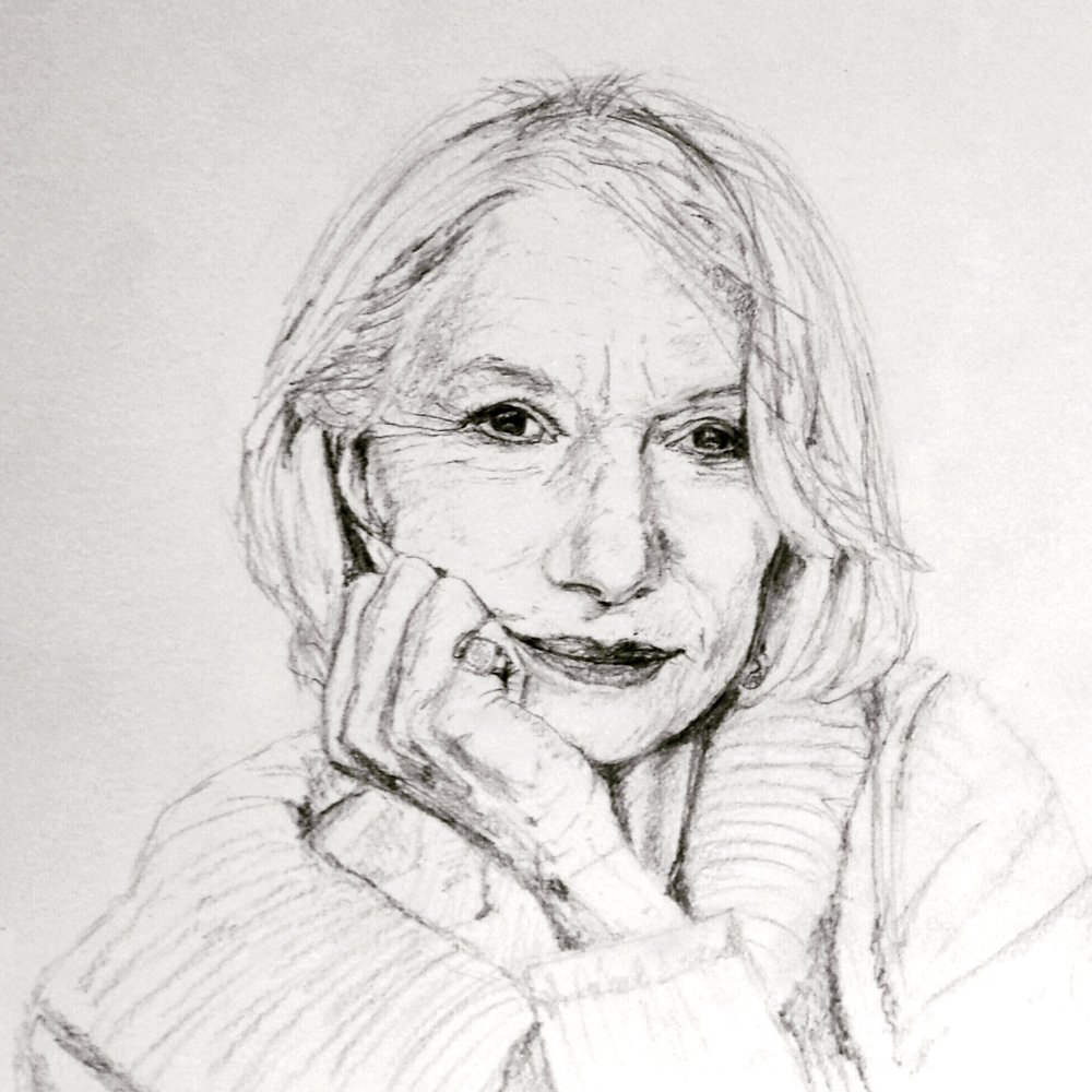 Helen Mirren, graphite, 2016