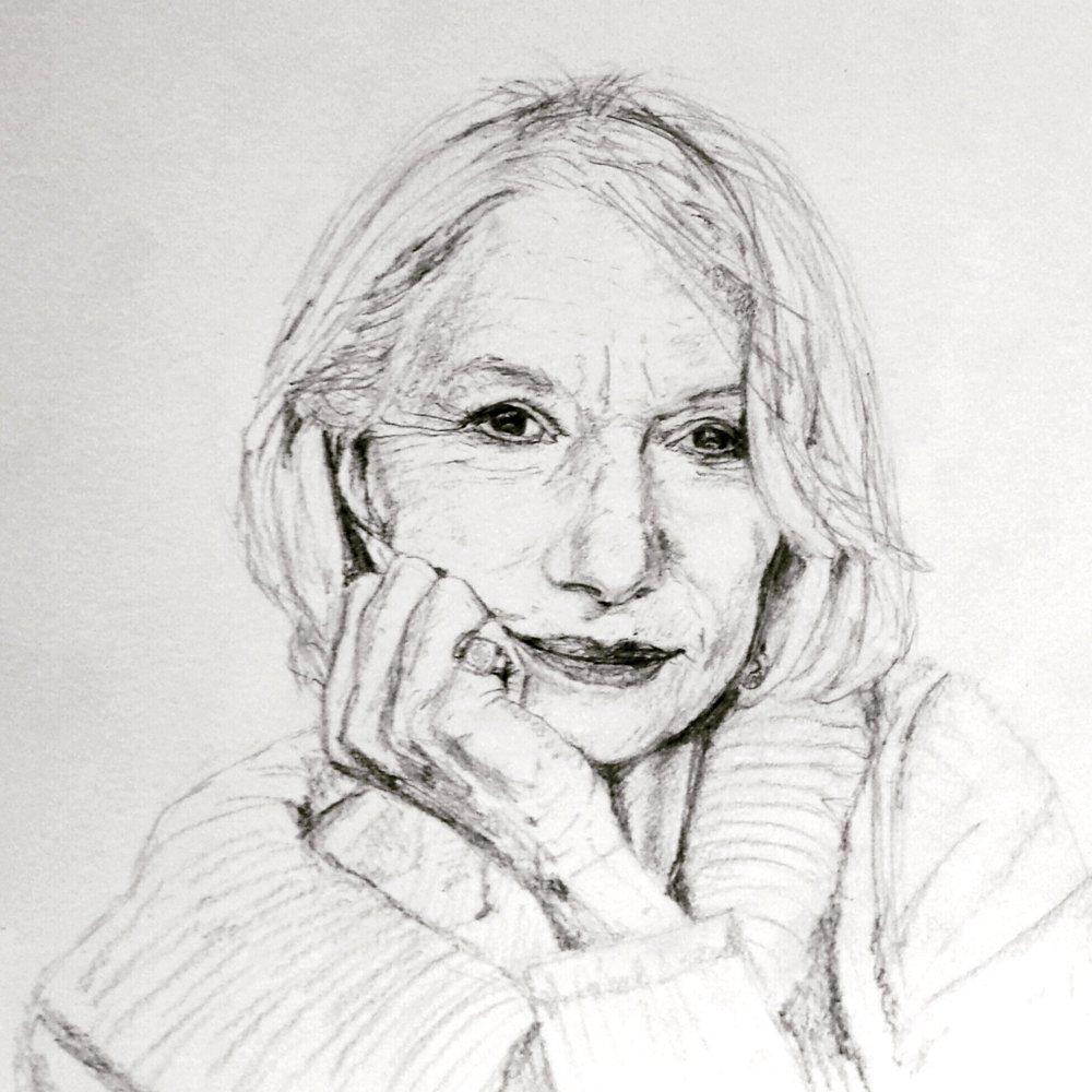 Helen Mirren, graphite, 2016