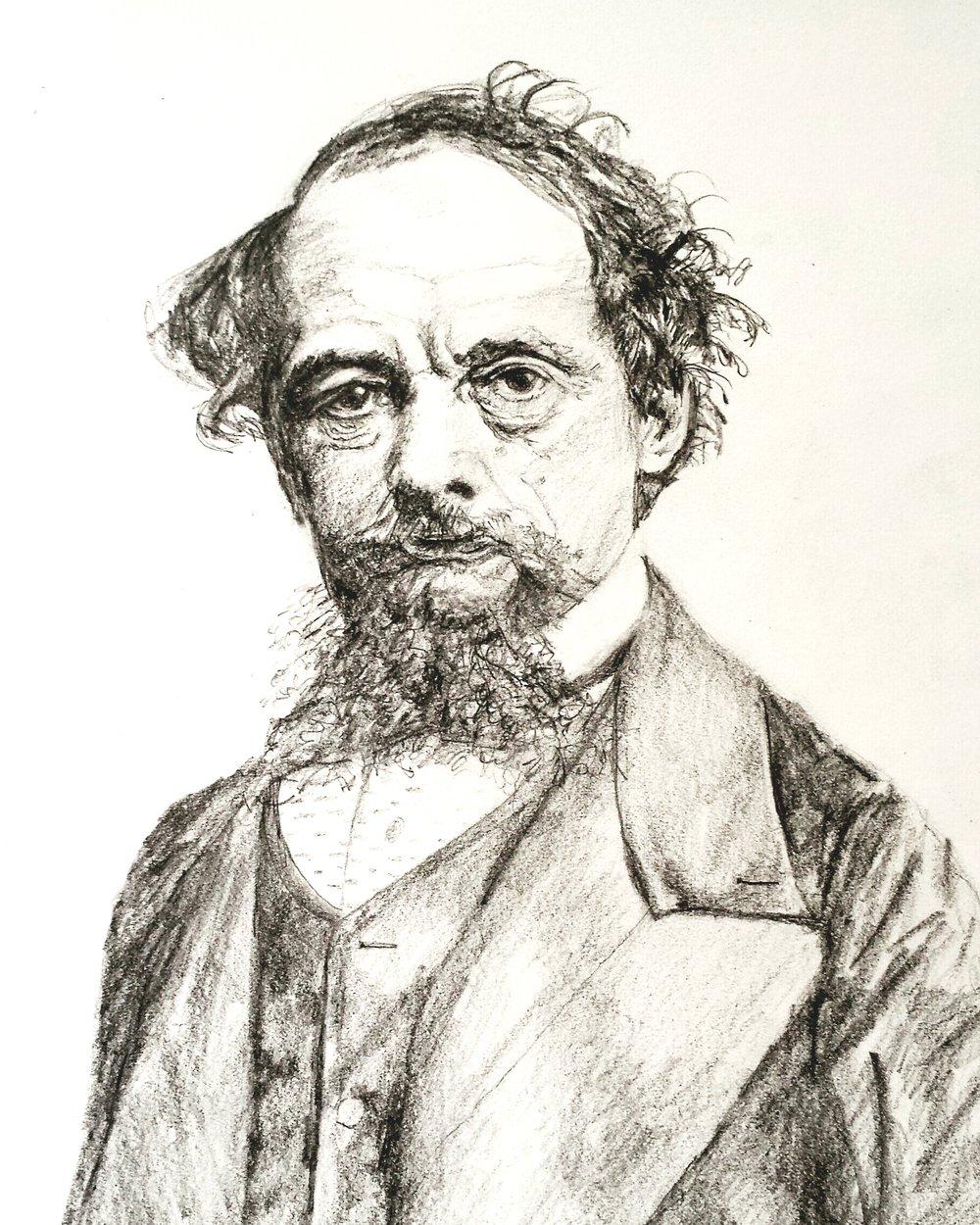 Charles Dickens, graphite, 2016
