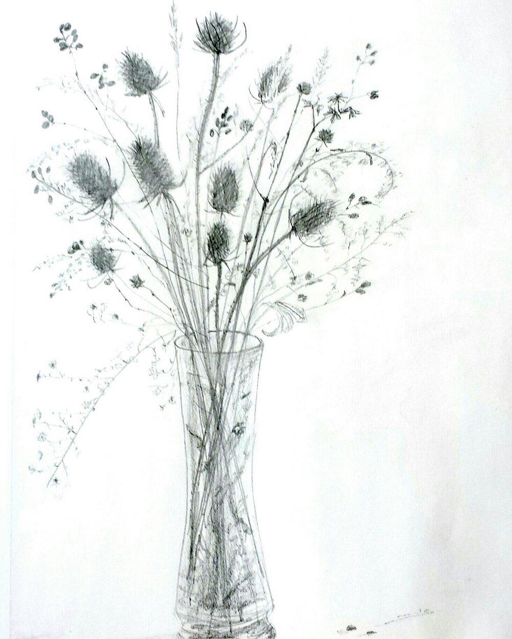 Autumn bouquet, graphite, 2016