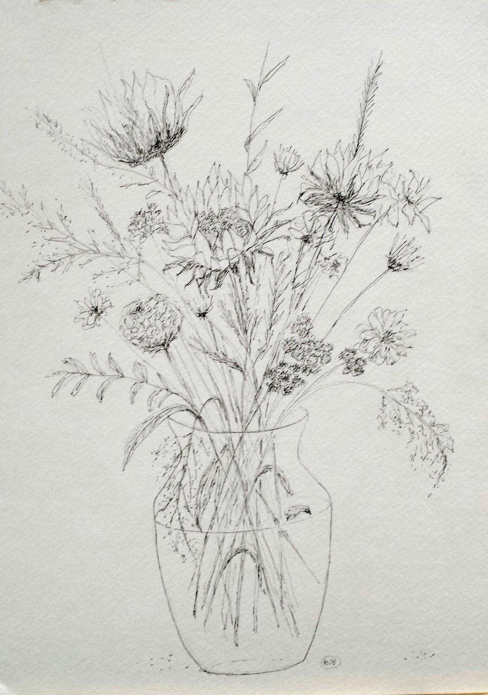 Sunflowers, graphite, 2016