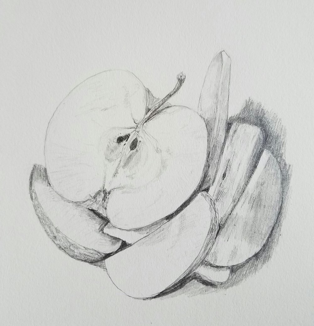 Apple, graphite, 2017
