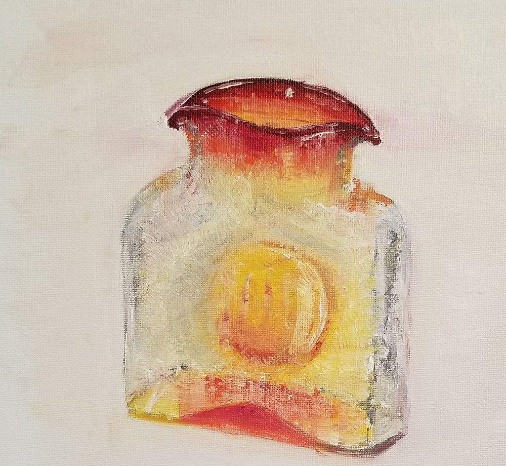 Vase; oil on canvas; 2017