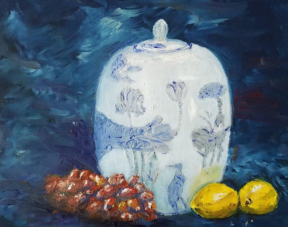 Ginger jar; oil; 2017
