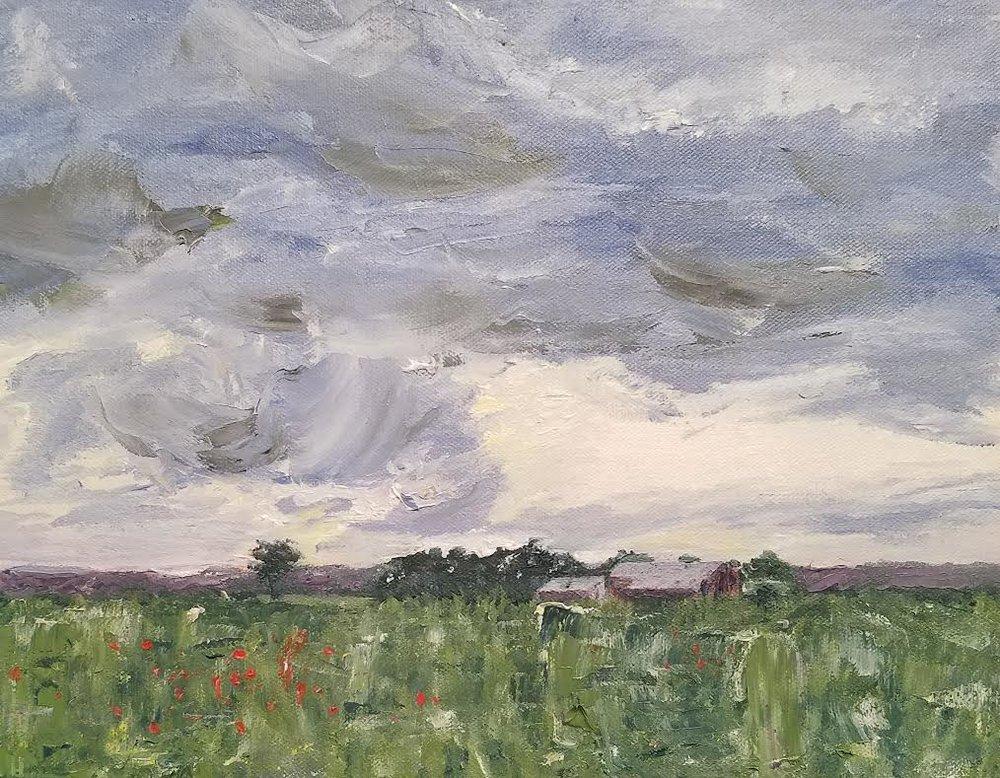 Pennsylvania Furnace sky; oil; 2017