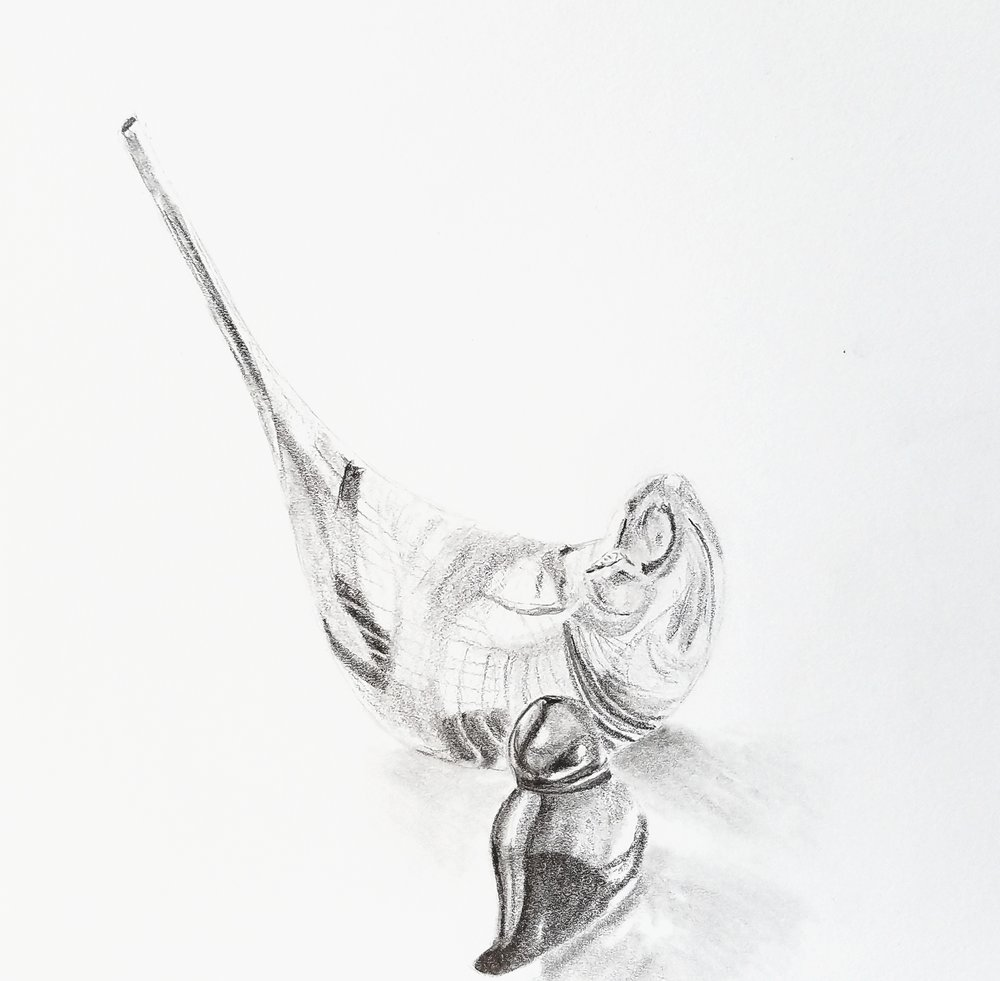 Glass birds; graphite; 2017
