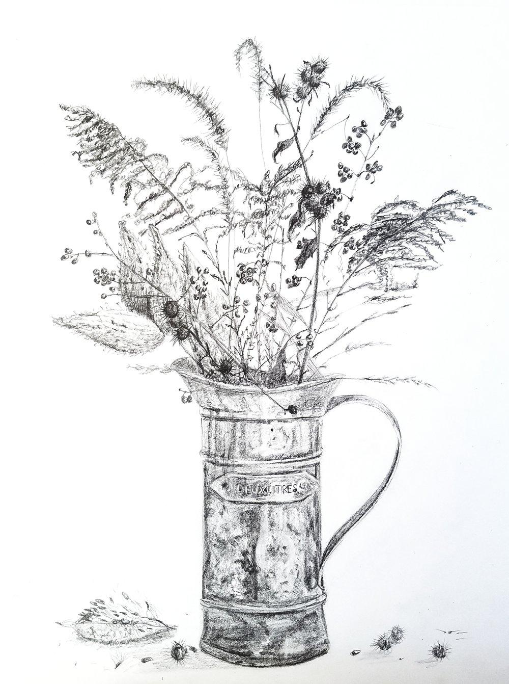 Autumn Bouquet; graphite; 2017