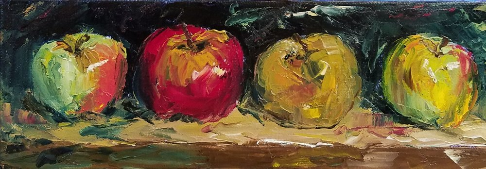 Heirloom Apples; oil; 2017