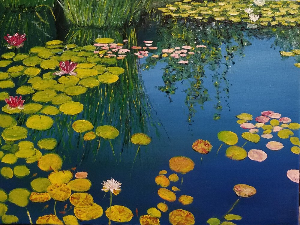 Waterlilies; oil; 2017