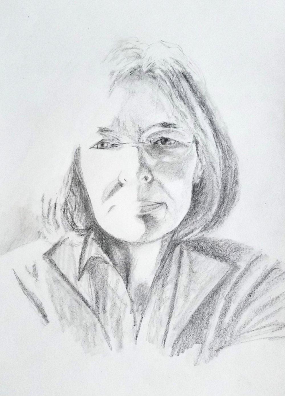 Self-portrait; graphite; 2017