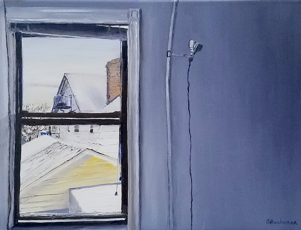 Snowy Morning in Brooklyn; oil; 2017