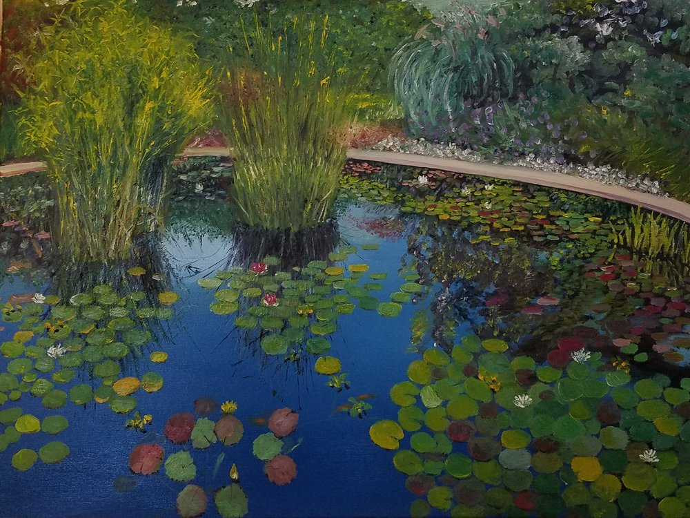 Water lilies; oil; 2017