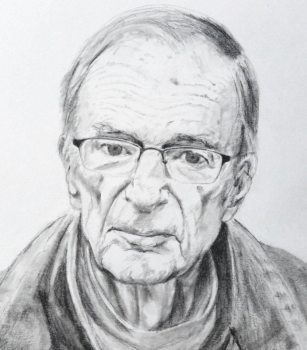 My Father; graphite; 2018