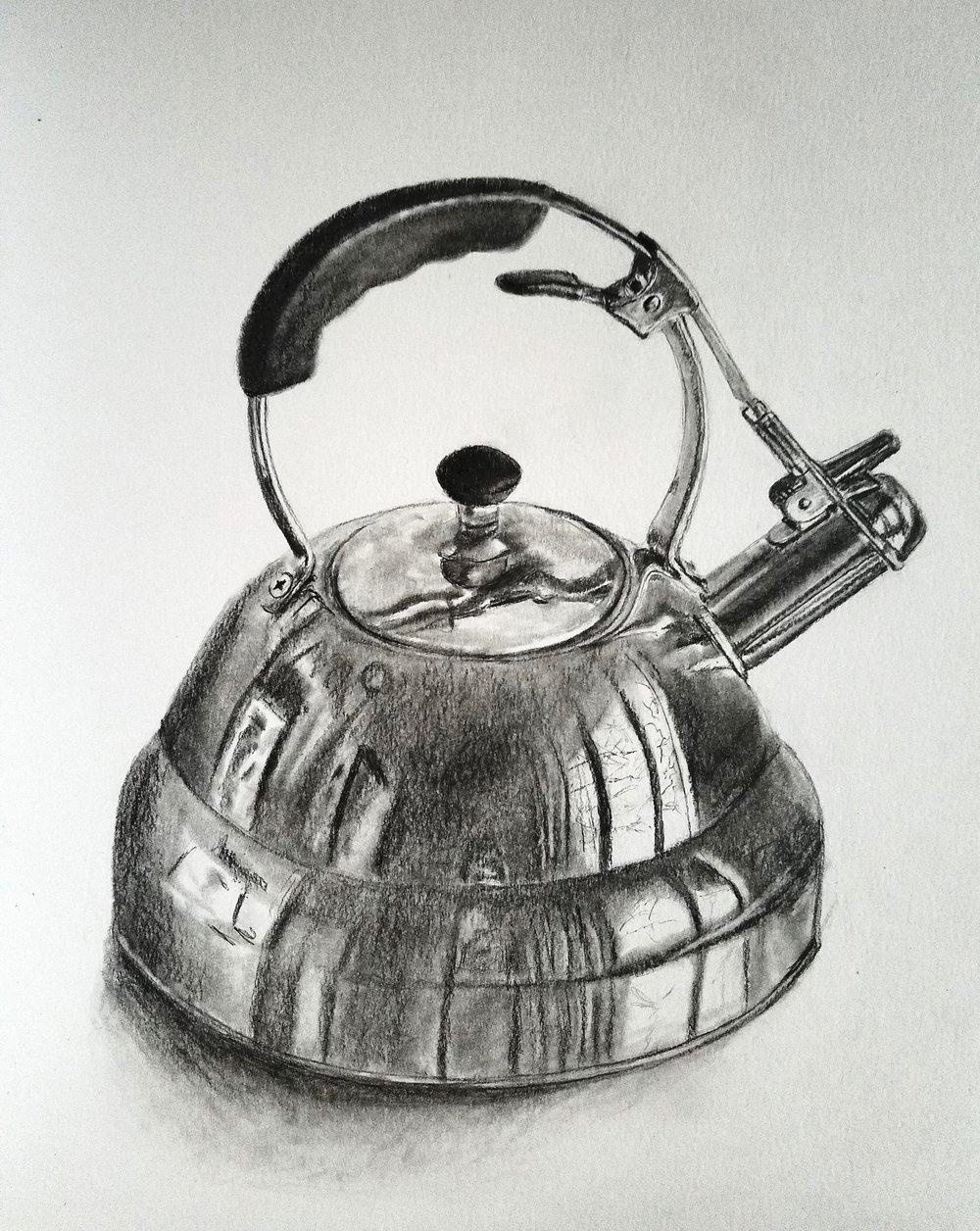 Tea Kettle; graphite; 2018