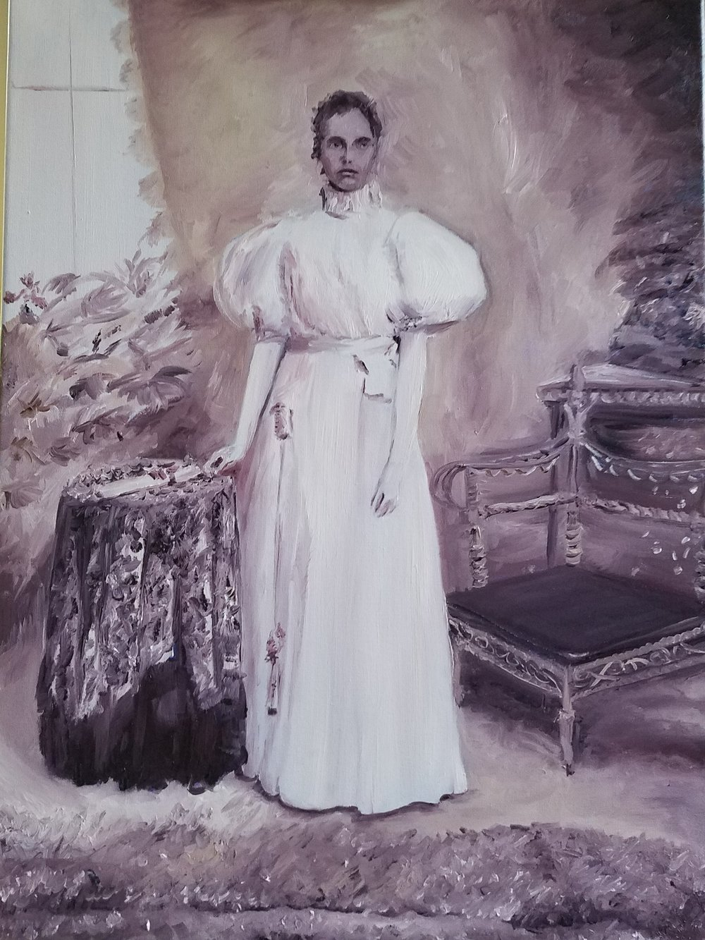 Victorian Grandmother; oil on linen; 2018