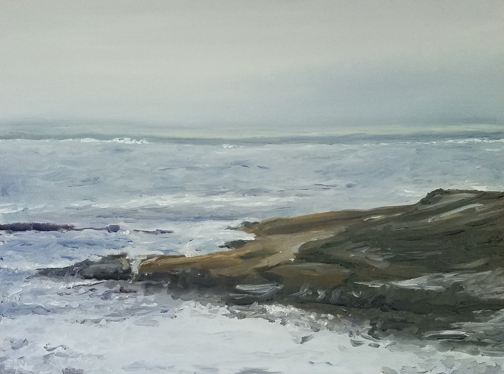 Pemaquid Point, Maine 1; oil on canvas; 2018