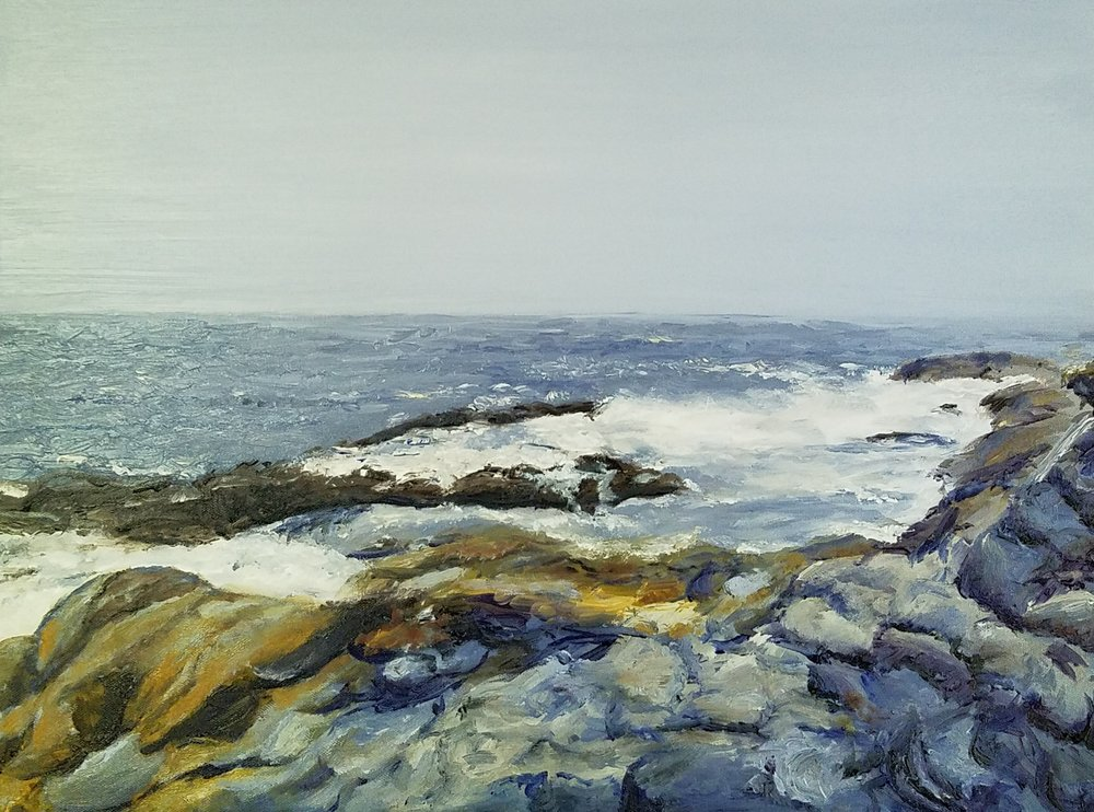Pemaquid Point, Maine 2; oil on canvas; 2018