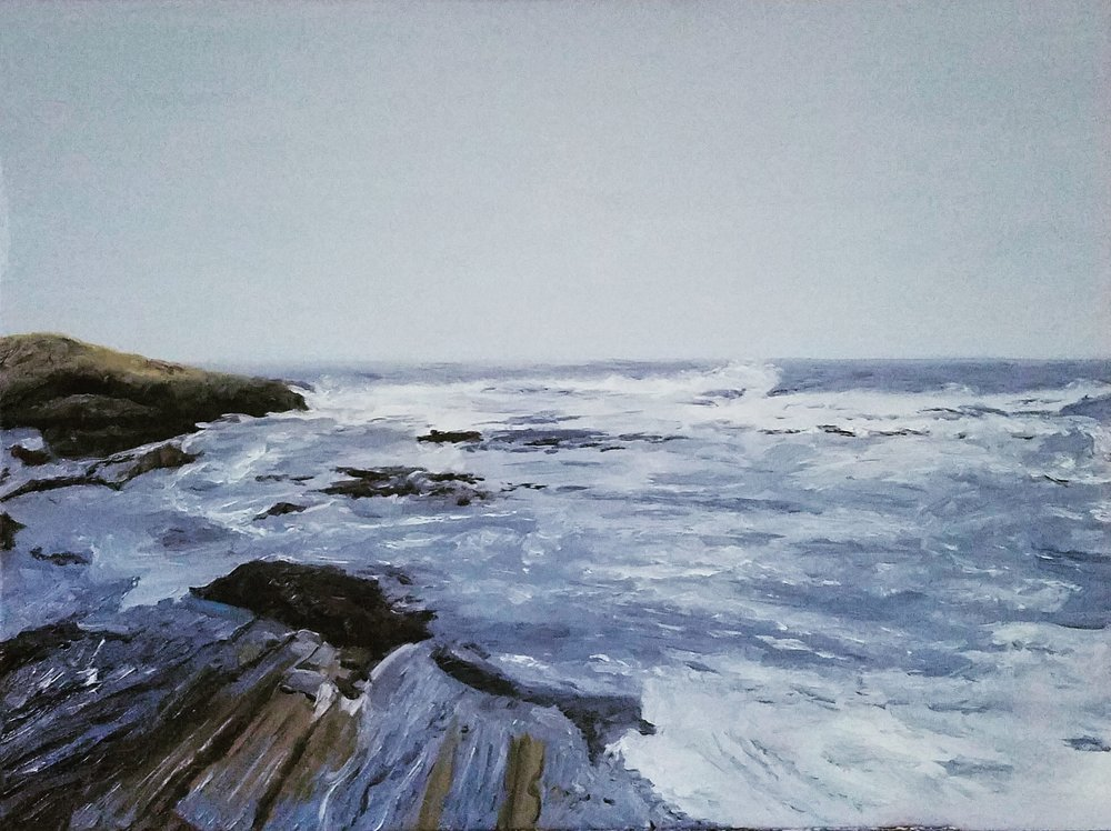 Pemaquid Point 3; oil on canvas; 2018