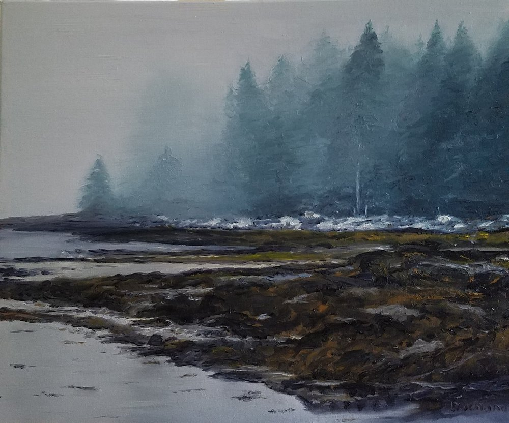 Foggy Morning in Maine; oil on canvas; 2018
