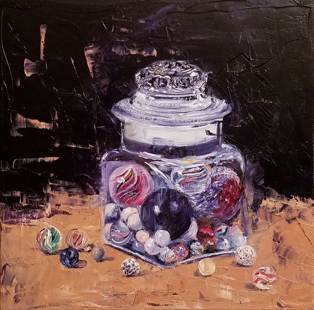 Antique Marbles; oil on canvas; 2018