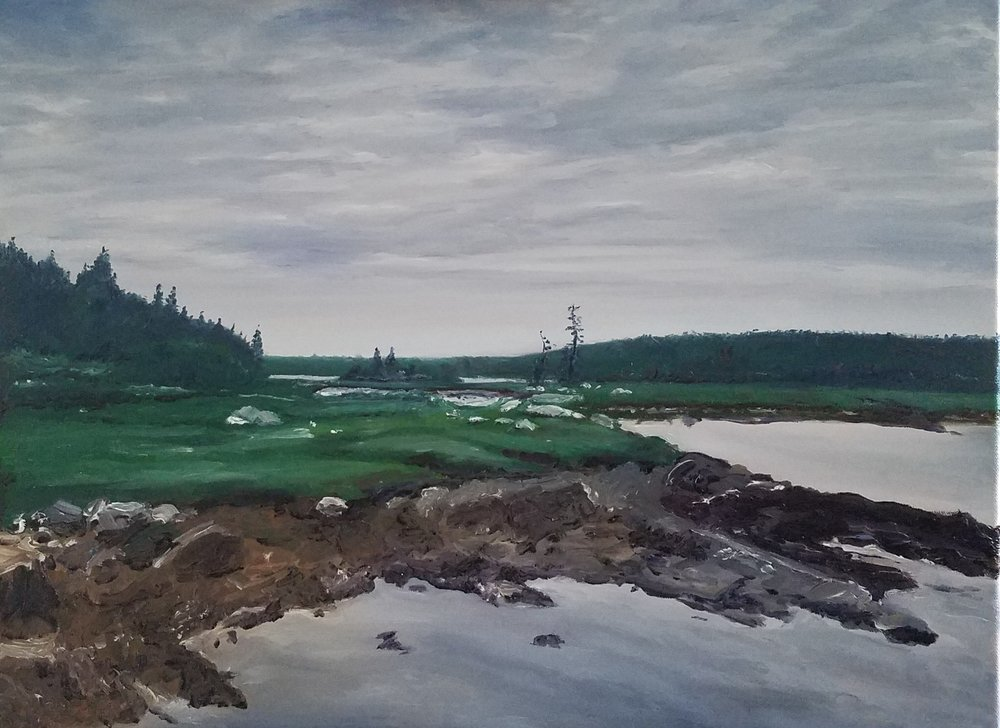 Clark Island, Maine; oil on canvas; 2018