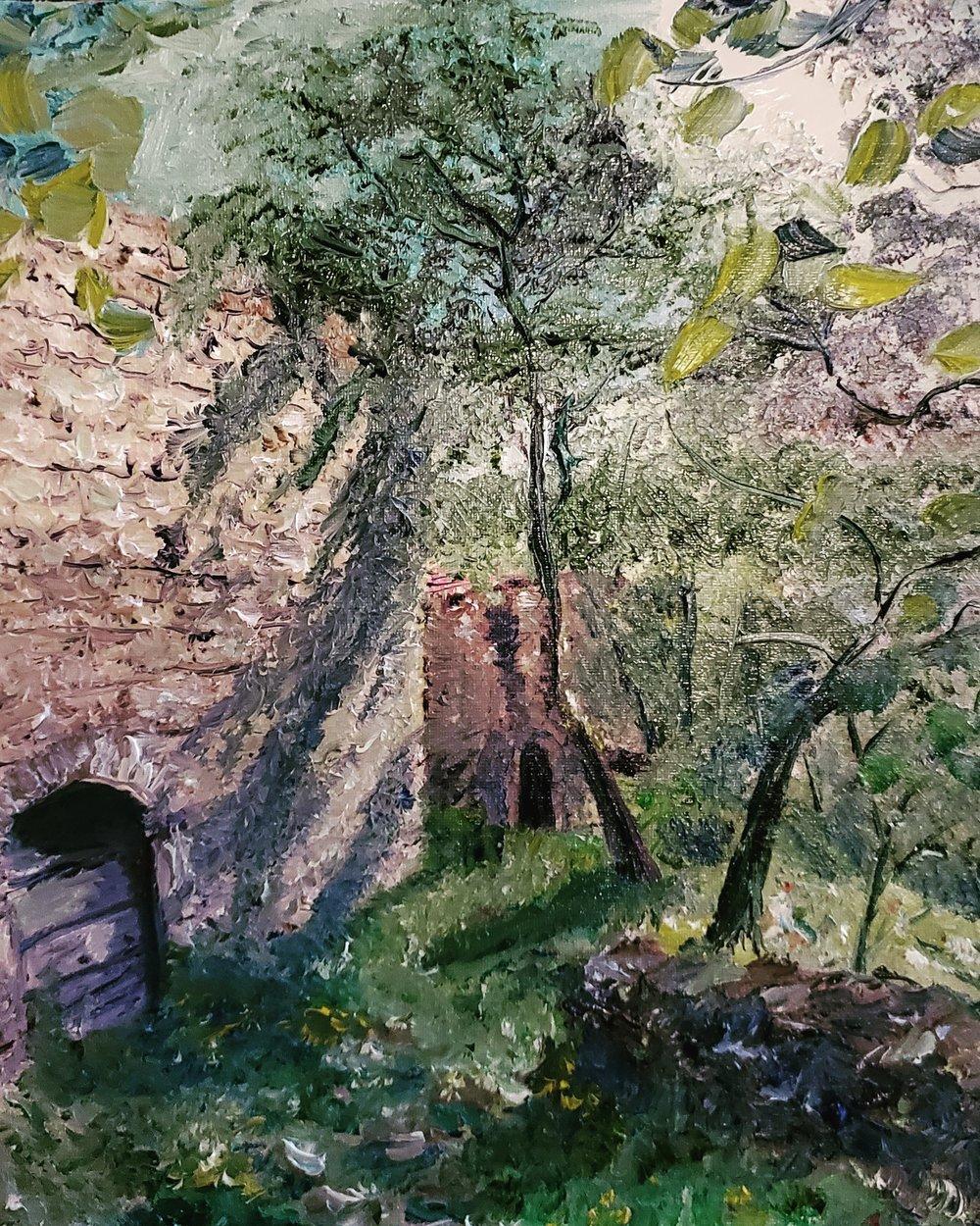 OldTellaro, Liguria, Italy; oil on canvas; 2019