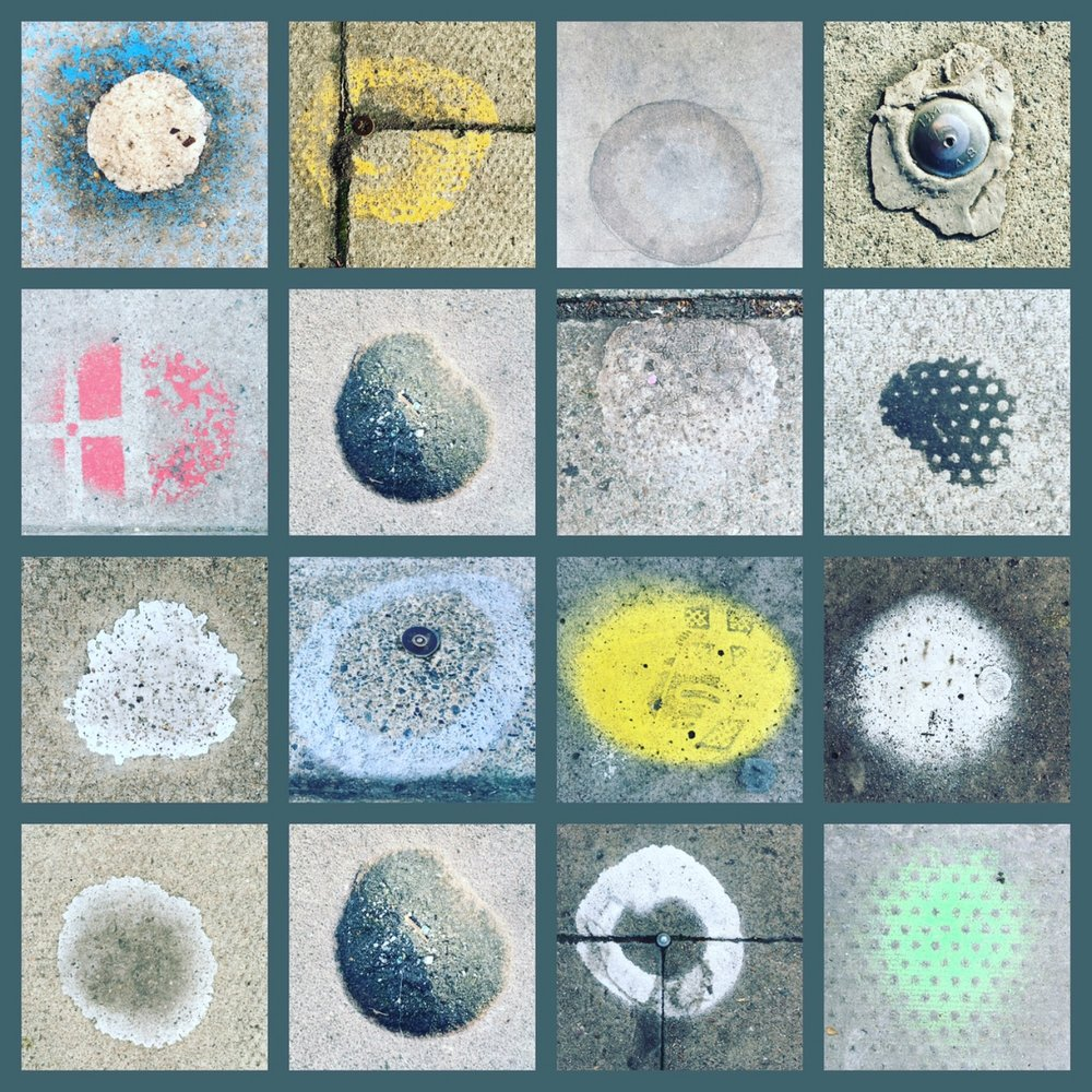 Road surface collage
