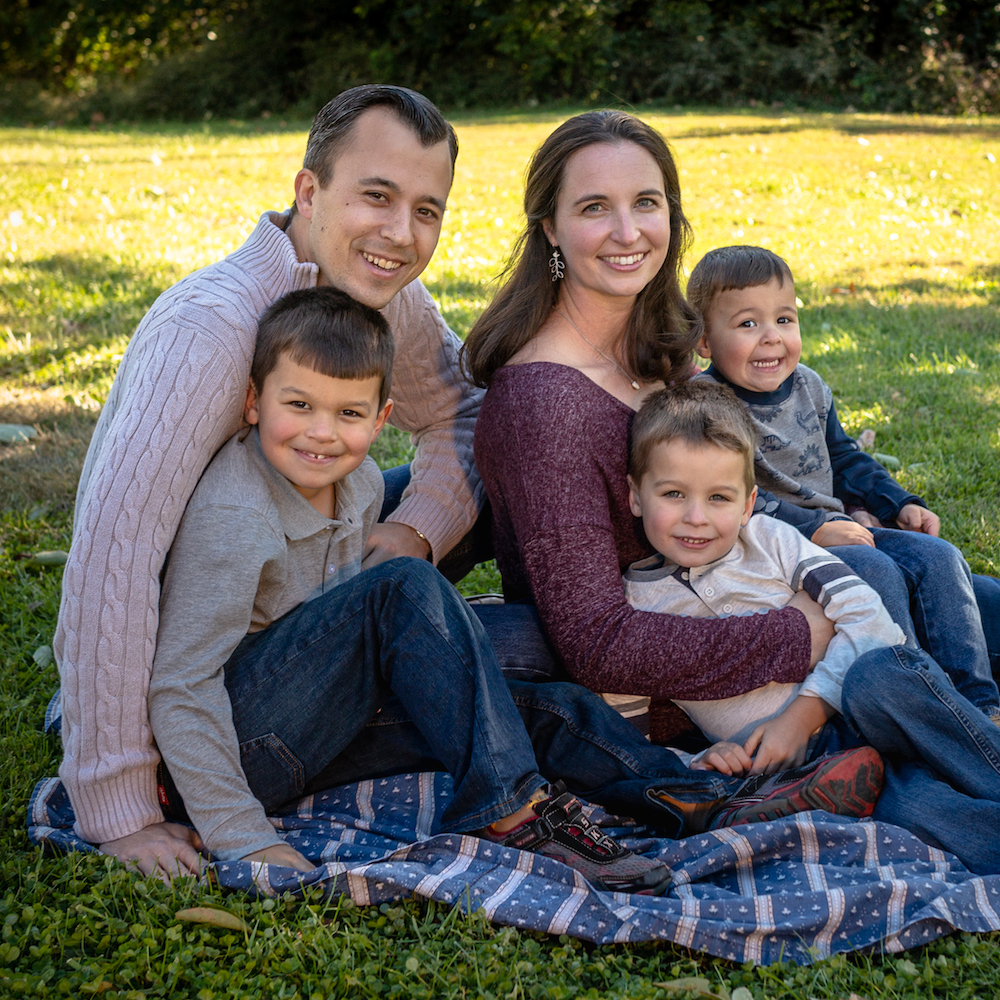 Katie Smith - (Also pictured: Husband, Bryan, sons Jack, Lukas and Izaak.)Katie Smith and her family have attended Missio Dei Central since 2015. The Smith family leads a community group in West Chester and attends Missio Dei North in Mason. Her husband, Bryan, works for GE as a mechanical engineer and Katie is a full-time stay at home mom. She loves being a boy mom and enjoys doing anything with her family. Katie is excited to see what the Lord will do in and through this church body.