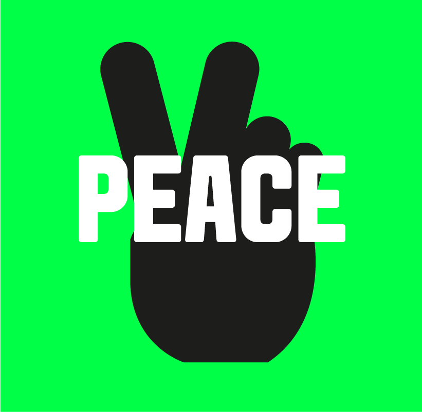 Peace to all mankind  One of our values