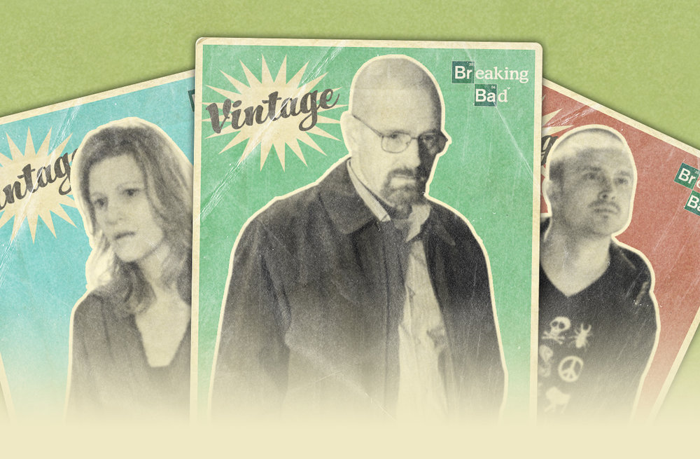 "Breaking Bad vintage card set: ""Stay Tuned"""