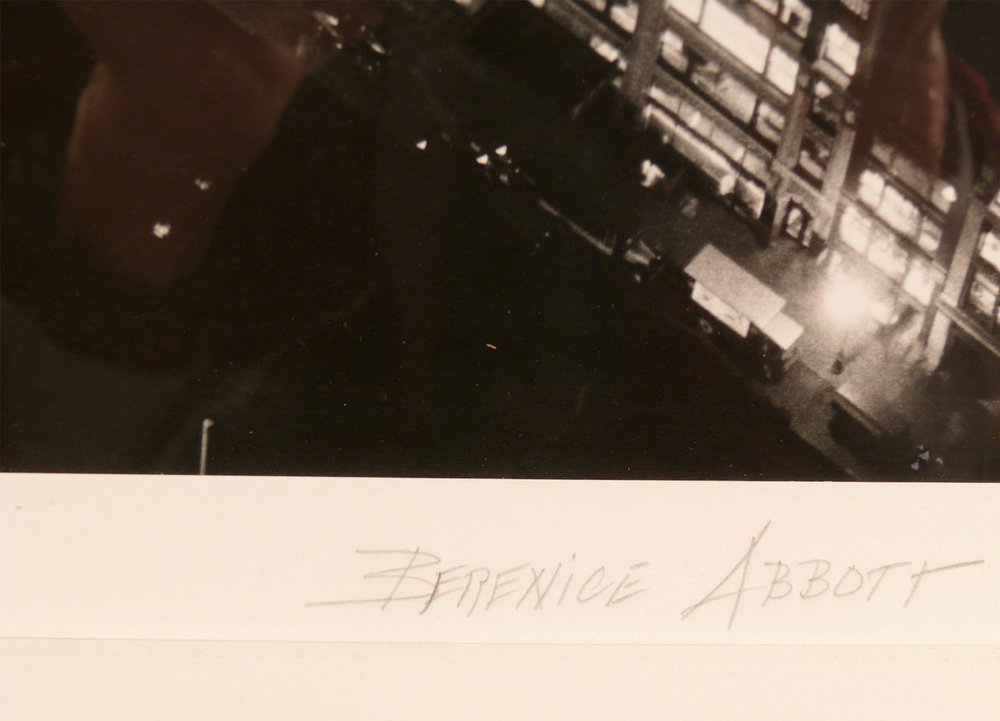 "Berenice Abbot signed / ""NIGHT VIEW"" / 23.375 x 18.5"""