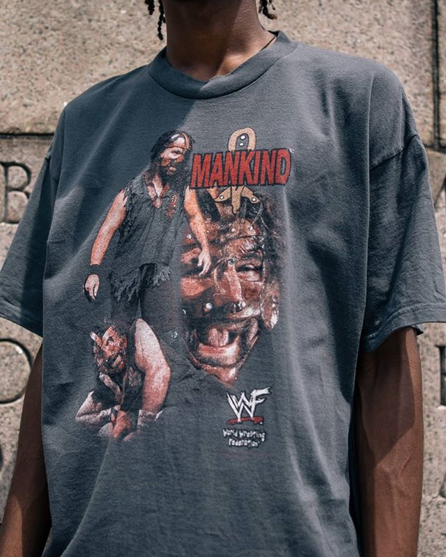 Vintage Wwf Mankind bootleg style tee from the Attitude Era. Size XL. Available at the Cured Collection store. Dm for inquiries. . . . . #wwf #wwe #attitudeera #mankind #mickfoley #polo #polosport #champion #vintagechampion #championreverseweave  #reverseweave #providencecollege #vintage #vintagetees #vintagepolo #vintagepolosport #vintagepvd  #tommyhilfiger #supreme #supremeforsale #bandtees #raptees #pvd #providence #ri