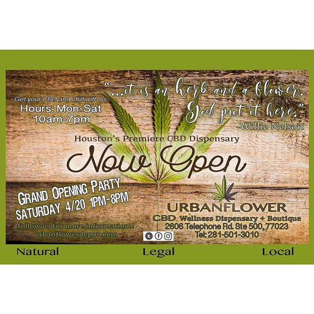 welcome our neighbors @urbanflowerhtx to the neighborhood! they're having their grand opening tomorrow from 1-8pm