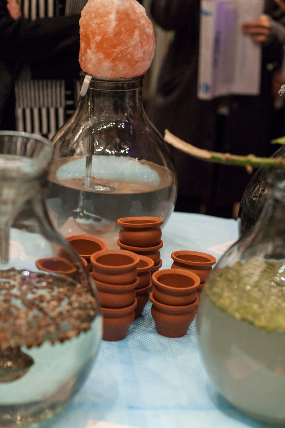 Water tastings by Arabeschi di Latte at 'The Source', in the ceramics gallery at the V & A Museum