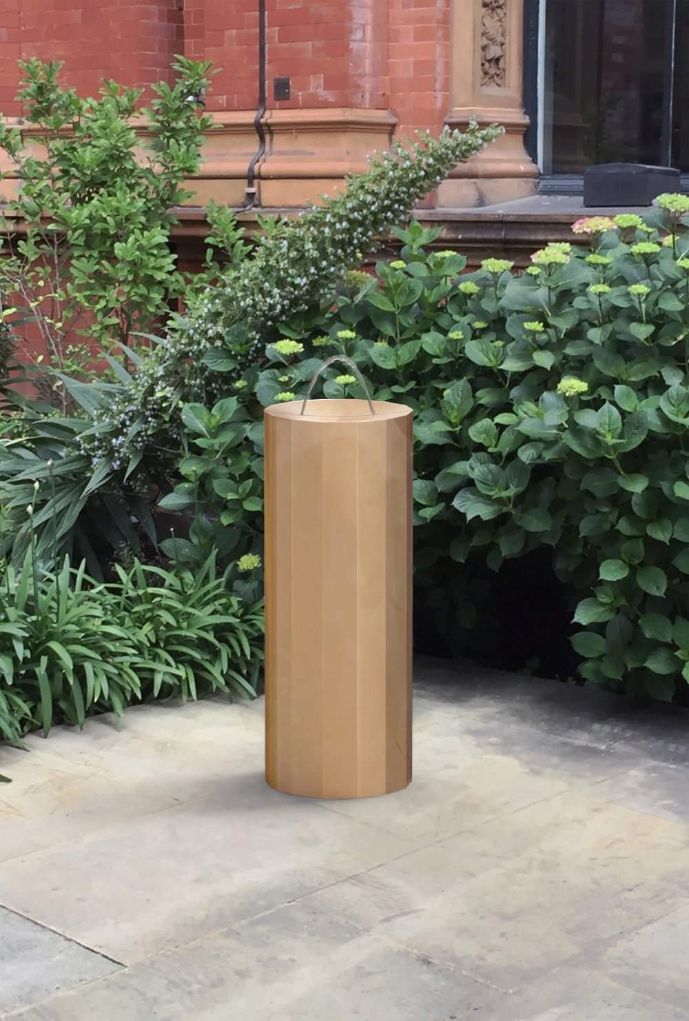The Fleet drinking fountain designed by Michael Anastassiades at the V&A Museum.