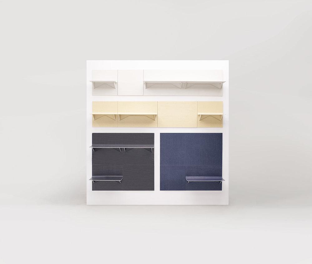 Benjamin Hubert | LAYER, 'Shift' magnetic modular shelving system.