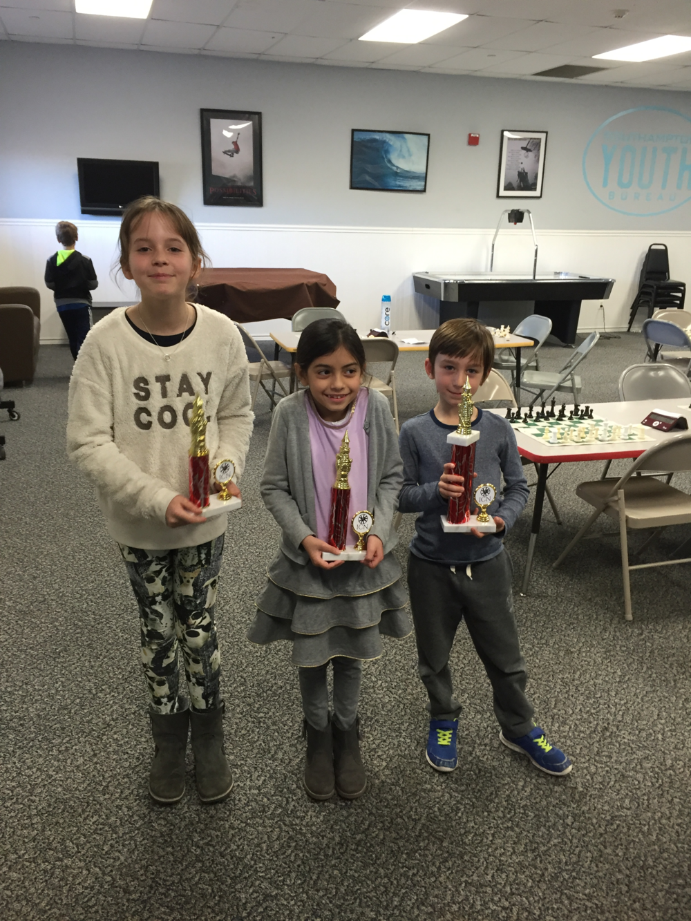 Congrats to our three trophy winners, Mahe (1st), Ilana (2nd) and Joy (3rd)!