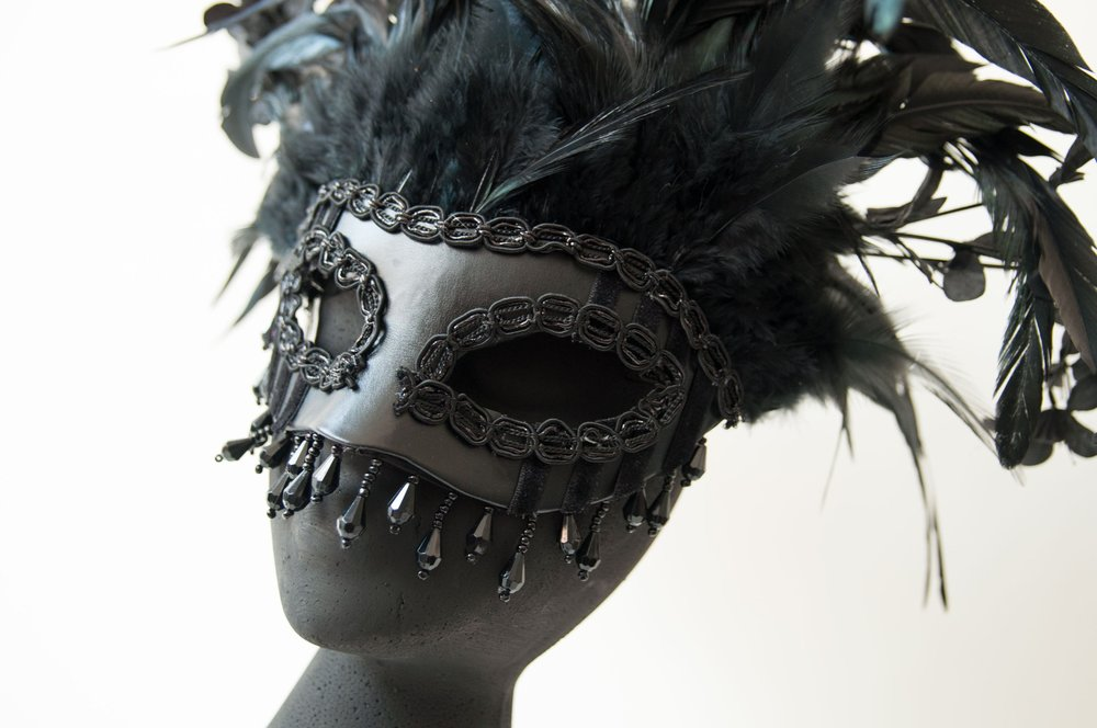 Our custom curiosities have been used in private parties, weddings and masquerade balls. Take a look at some of the masks and fascinators we have produced or message us with your ideas.    Custom curiosities
