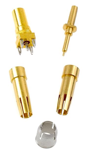 Ferrule holder, coax spacers, electronics