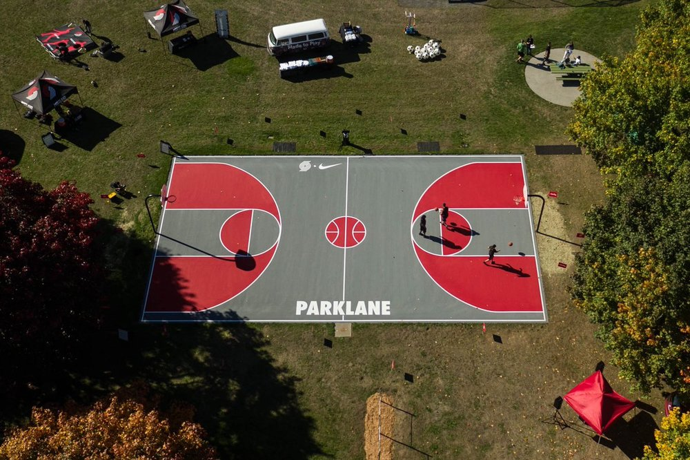 Verde secured a $1 million grant from Nike and the Portland Trailblazers to improve Portland Park's basketball courts.