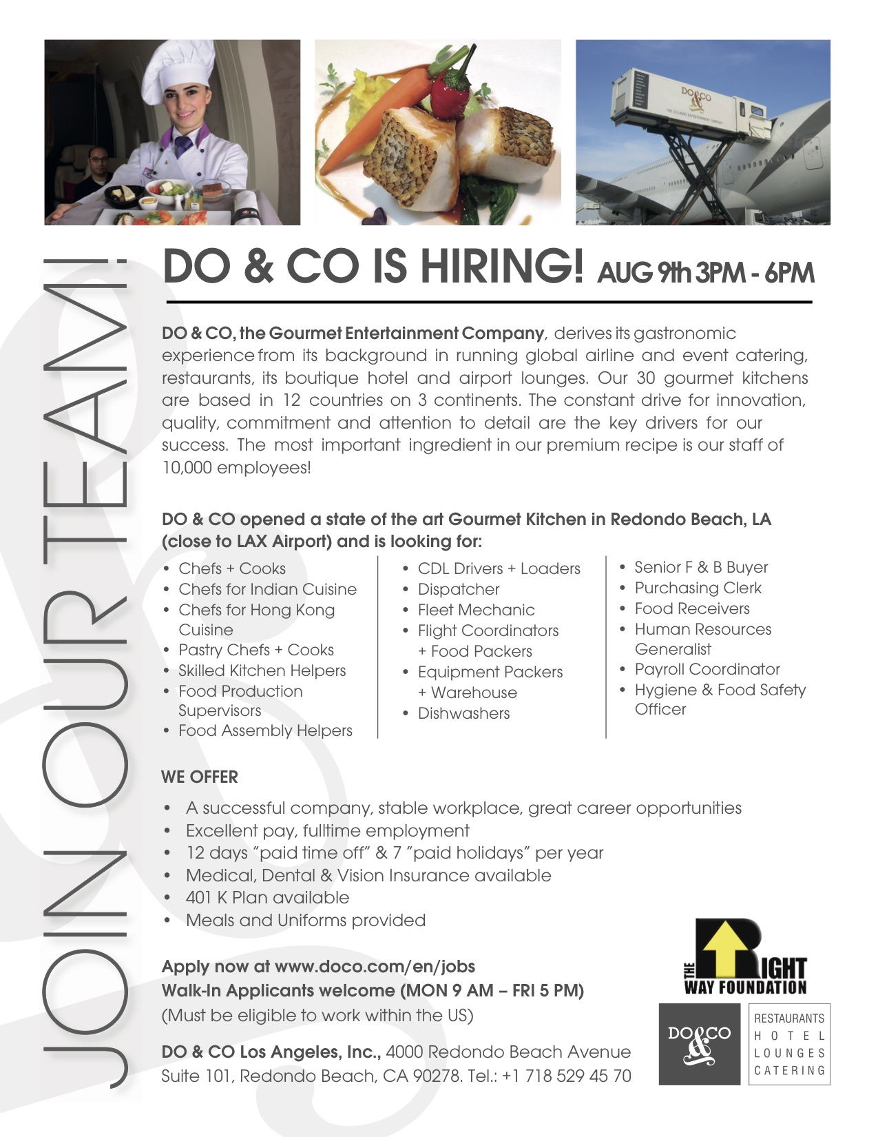Job Fair for Do&Co Catering Company at LAX—Announcements