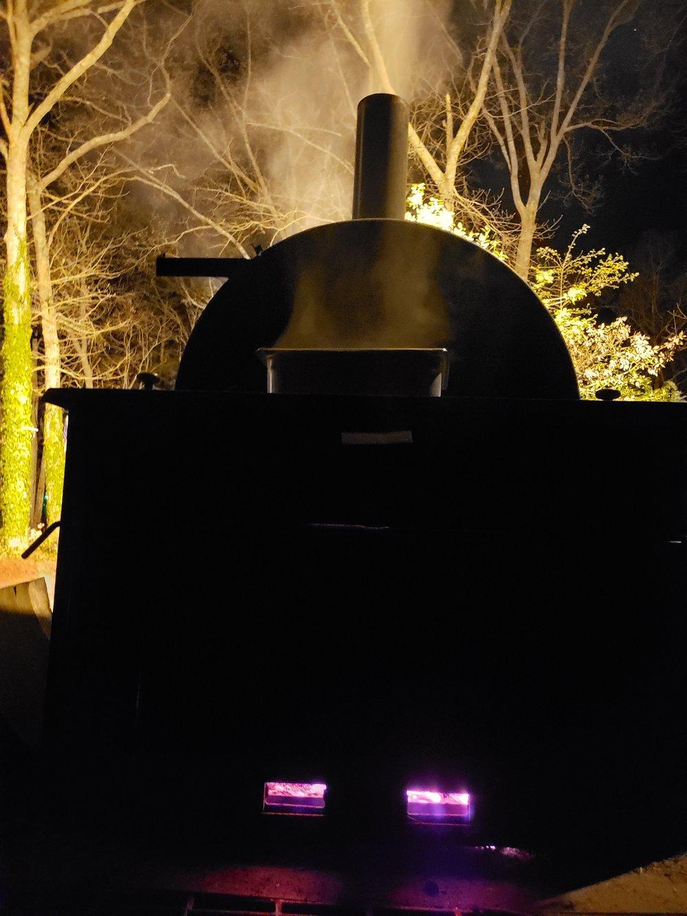 Up all night smoking pork butts