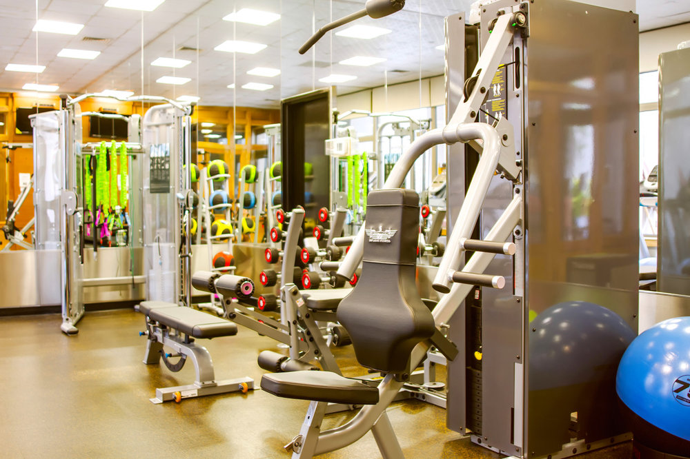 Fitness room - Recently remodeled, full size fitness room with new equipment, including weights and state of the art aerobic machines.