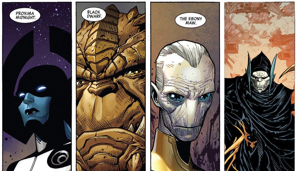 Children of Thanos (aka Black Order): Proxima Midnight, Black Dwarf, Ebony Maw, Corvus Glaive.