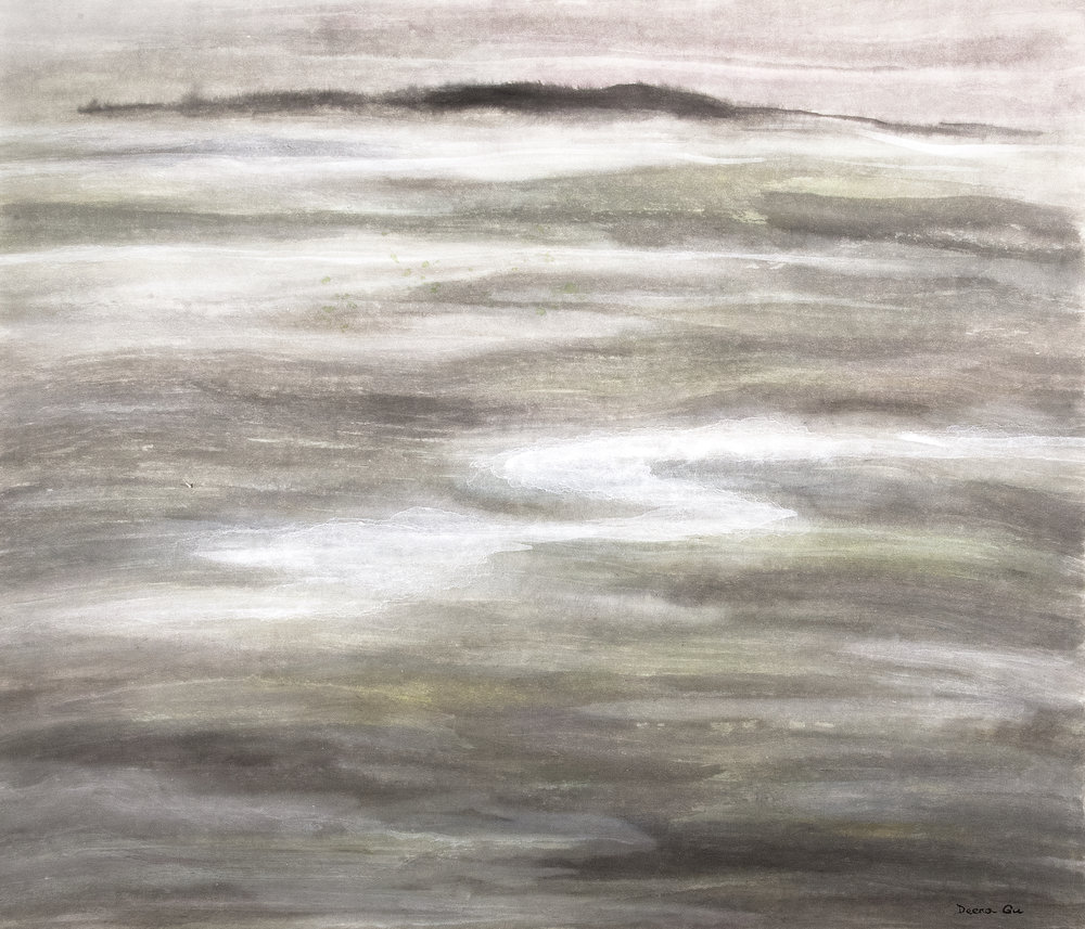 Misty View (2014) - Watercolor on paper, 29 x 30 in.