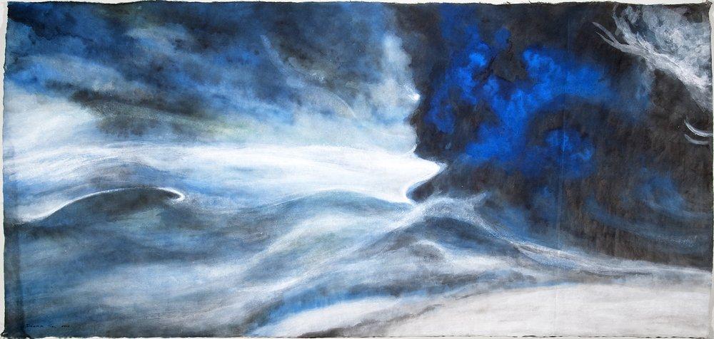 """Blue Wave, 31""""x58"""" (2014)"""