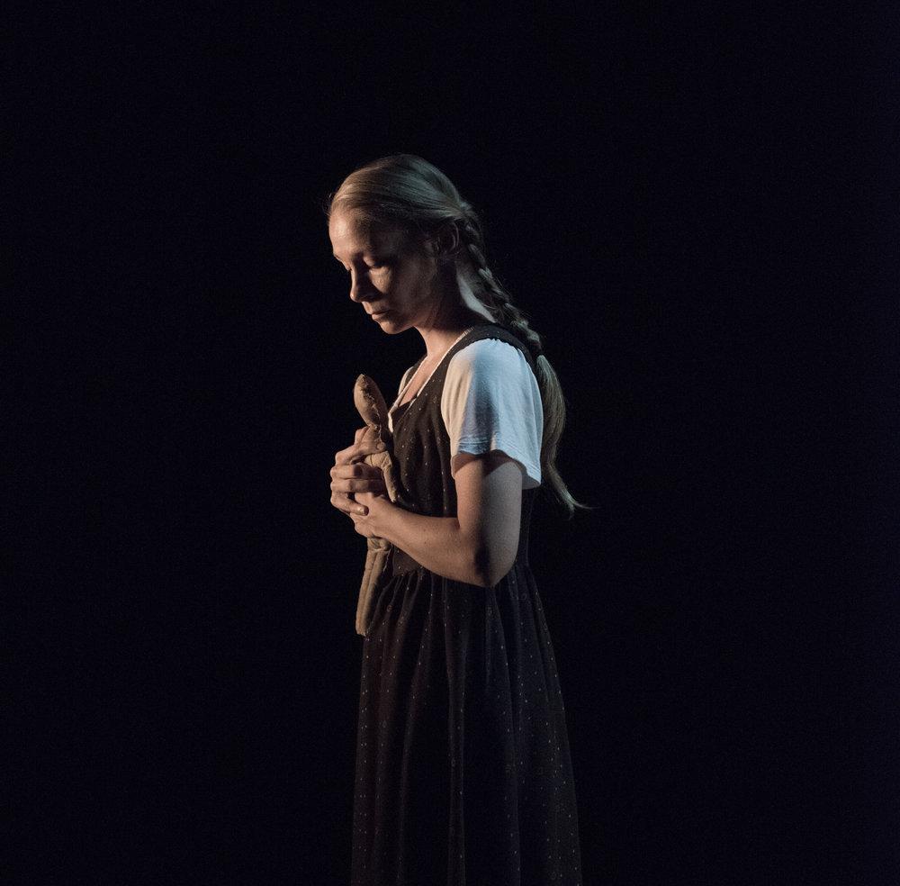 Hilde Stensland as The Girl, Scene 1.