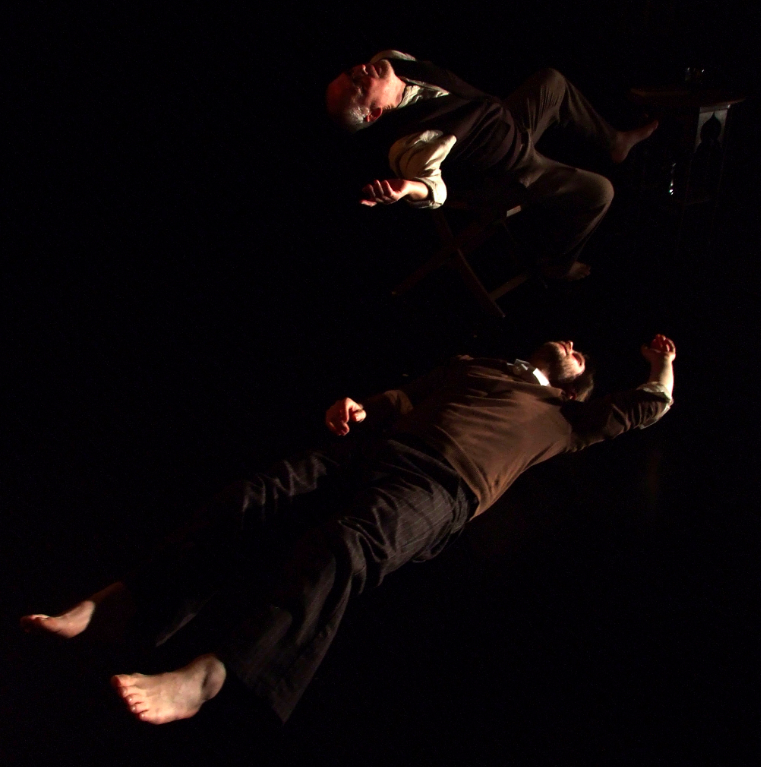 Phillip Zarrilli and Ian Morgan in The Echo Chamber, 2012.