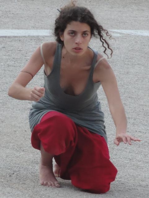 Roza Prodromou in a 2011 workshop with Phillip Zarrilli at Epidavros