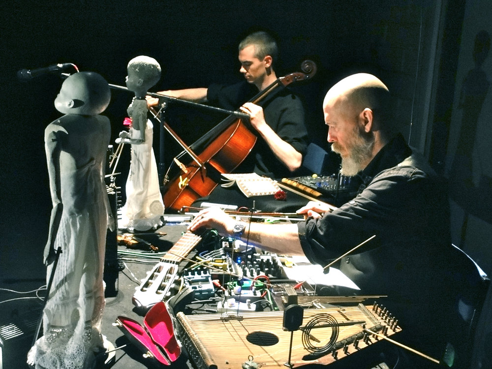 Adrian Curtin (cello) and Mick O'Shea (sound-artist) in performance